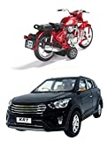 Black Colour KRT SUV Red colour Rugged Bike Bike has Free Wheel & Pull Back Relistic Alloy Wheels Pull Back Action