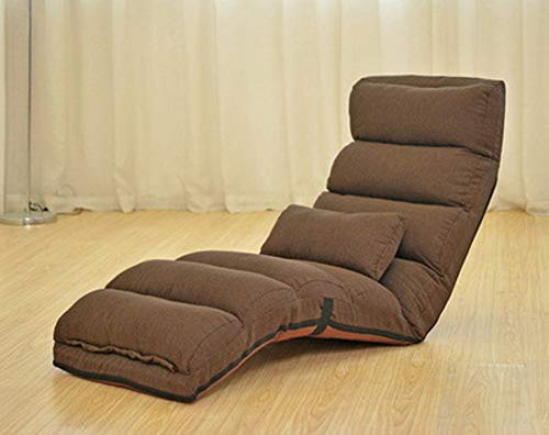 Pliant Multi-function Chaise de sofa paresseux, Tatami Canapé-lit Amovible pour laver Canapé-lit paresseux Salon méridienne Dossier Chaise lounge Loisir-Brown (normal 175x56x20cm(69x22x8inch)