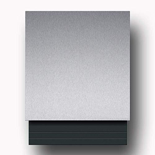 Briefkasten Edelstahl B1 Light Steel, moderner Premium Design Wandbriefkasten mit Zeitungsfach
