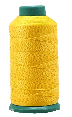 Mandala Crafts Nylonfaden zum Nähen von Leder, Polster, Jeans und Weben von Haaren, strapazierfähig, 1500 Yards Größe 69 T70 (gelb)