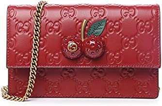 Gucci Guccissima Red Cherries Cherry Ruby Crossbody GG Fruit Bag Leather Min NEW