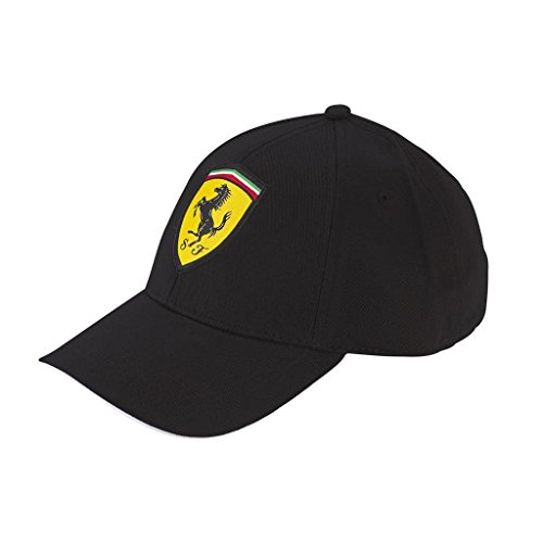 Ferrari Black Shield classico cappello regolabile W/chiusura in velcro