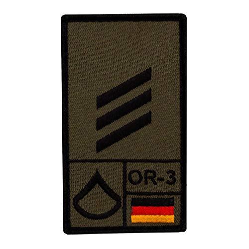 Café Viereck ® Hauptgefreiter Bundeswehr Rank Patch mit Dienstgrad - Gestickt mit Klett – 9,8 cm x 5,6 cm