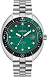 Men's Bulova Special Edition Oceanographer Green Dial Stainless Steel Automatic Bracelet Watch 96B322