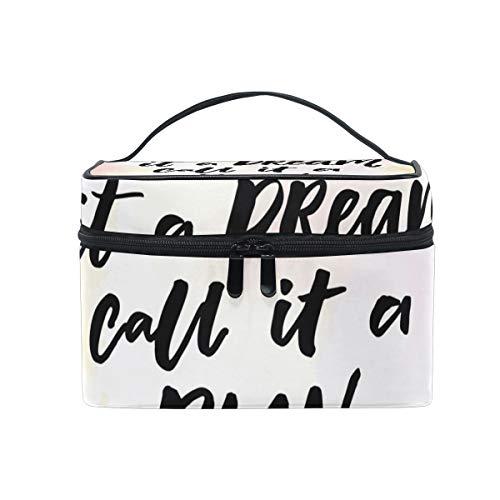 Maquillage sac cosmétique rêve ou plan de stockage portable avec fermeture à glissière