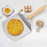 zyh Pala per Pizza Antiaderente in Acciaio Inossidabile,Accessorio da Forno per spatola da Appendere e Facile da riporre,utilizzato per cuocere la Pizza e Trasferire