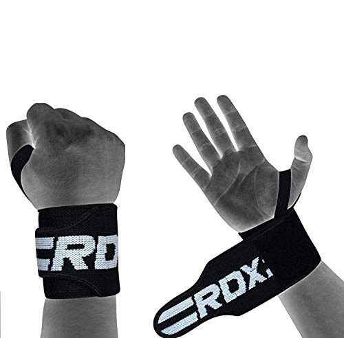 Authentische RDX Handgelenk Gewichtheben Training Gym Griff Handschuhe Body Building B D - 2
