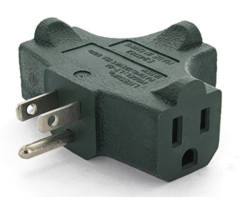 Ram-Pro 3 Prong T Shaped 3 Way Outlet Wall Plug Adapter - 125V/15A/1875W Rating