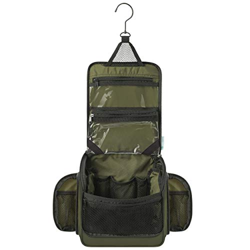 Travel Hanging Toiletry Bag for Men and Women (Forest Green)