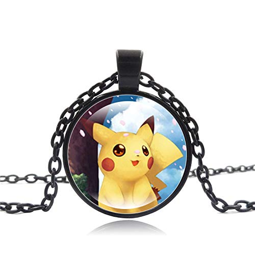 WYFLL Joyas Pokémon Serie Pokémon Pikachu Time Collar De Piedras Preciosas Collar