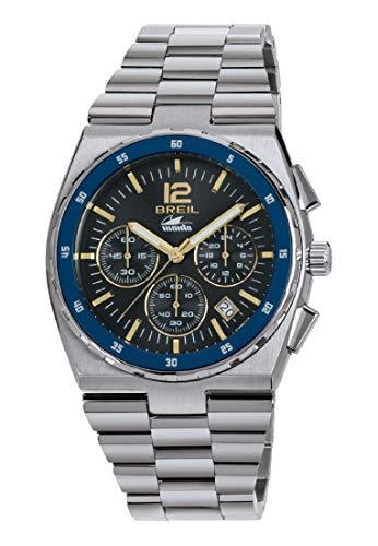 Breil herenhorloge ManTA Sport wijzerplaat zilver en armband van staal, beweging CHRONO QUARZO