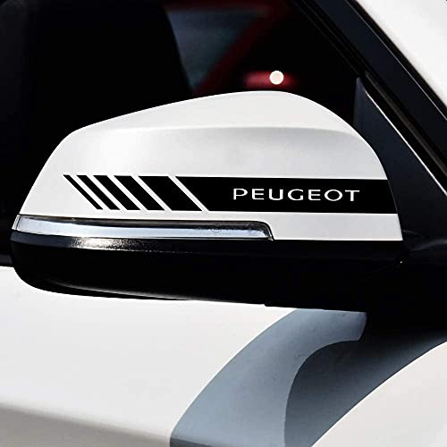 2 Piezas Coche Pegatinas Espejo Retrovisor Juego Pegatinas Estilo Pegatina, para Peugeot Car Styling