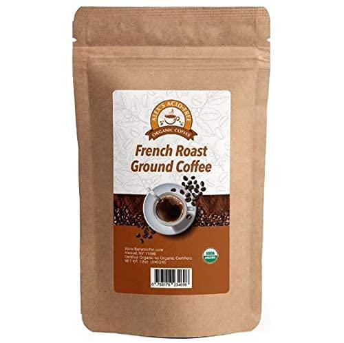 Alex's Acid-Free Organic Coffee – Fresh Ground French Roast 12oz Bag