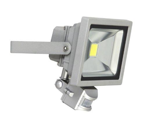 Ranex XQ1221 Projecteur LED 20 W avec Détecteur de Mouvement Aluminium Verre Gris
