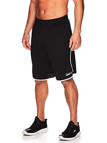 AND1 Herren Basketball-Shorts mit elastischem Bund und Taschen, 30,5 cm Innennaht -  Schwarz -  Klein