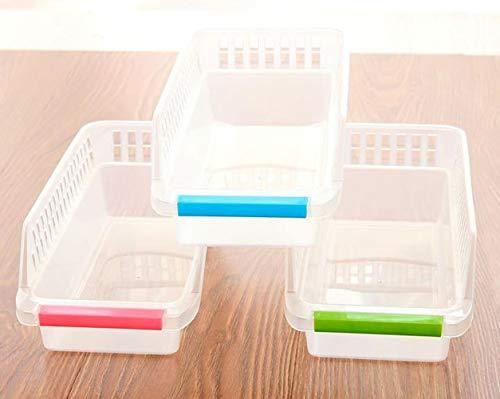 Voarge Organizador para frigorífico, congelador y armario de cocina, se adapta debajo de los compartimentos de la nevera, práctico estante de almacenamiento de alimentos