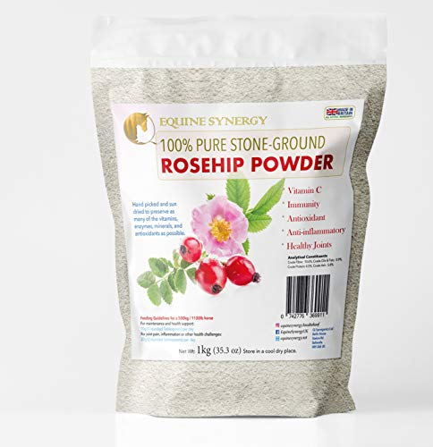 Equine Synergy 100% Pure Stone-ground Rosehip Powder 1kg for your horse's joint health & wellbeing
