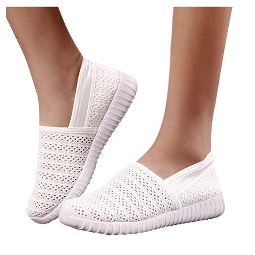ZBYY Women's Sneakers Slip-on Walking Shoes Mesh Casual Breathable Athletic Tennis Slip on Running Sneakers