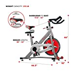 Sunny Health & Fitness Bicicleta Profesional de Ciclismo Interior con Volante de Inercia de 18 KG, Transmisión de Cadena - SF-B901
