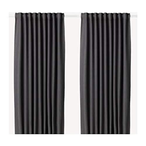 IKEA Annakajsa Blackout Curtains 1 Pair Gray 203.902.39 Size 57x98