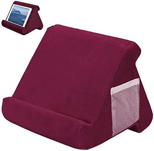 Soporte para tablet, cojín para cojín, soporte para libros, multiángulo, suave, soporte para almohada triangular portátil, soporte para tablet
