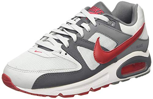 Nike Herren AIR MAX Command Laufschuhe, Grau (Pure Platinum/Gym Red/Dk Grey/Cool Grey/White 049), 43 EU