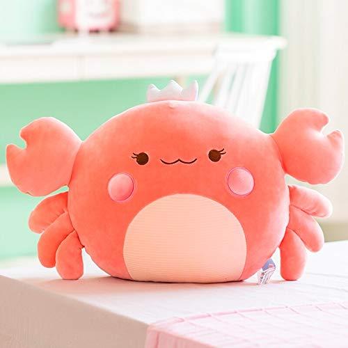 AYQX 58 cm de algodón de Peluche de Cangrejo de Peluche de Animal Submarino Lindo sillón de Peluche pequeño sofá decoración Juguete Almohada de Tiro 58 cm Rosa