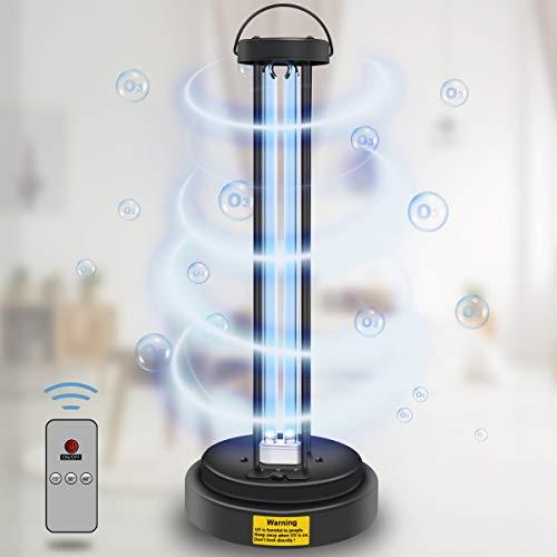 UV Lampe Desinfektion mit Ozon, UVC Sterilisationslampe Antibakterielle Rate 99%, Intelligente Steuerung + Timing + Fernbedienung, Geeignet FüR Zuhause, KüChe, Schlafzimmer, Bad (36W- Ozon)