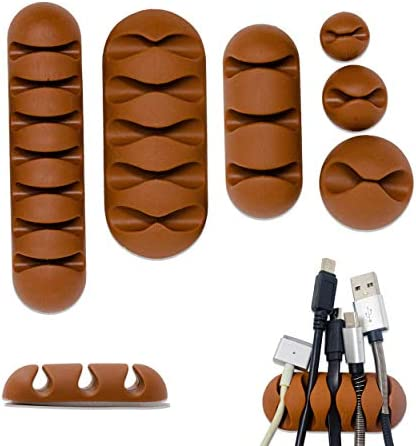 Desk Cable Management Cable Clips I 6 Different Pieces Cord Organizer Cable Holder I Adhesive product image