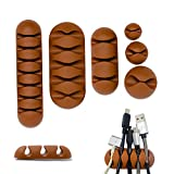 Desk Cable Management Cable Clips I 6 Different Pieces Cord Organizer Cable Holder I Adhesive Wire Organizers Clip for Home and Office I Desk and Table Organization I USB Holders