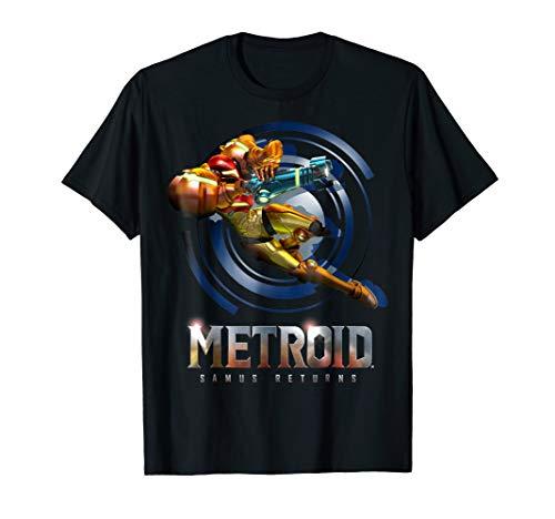 Nintendo Metroid Samus Returns Jump Action Graphic T-Shirt