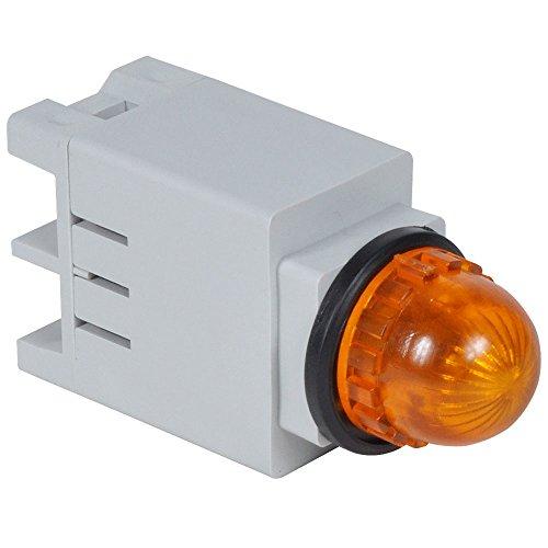 c3controls 13SBLA120ST-13ARR Indicating Light, 13mm, Amber Super Bright LED, Round Amber Color Lens, 120V AC/DC, Screw Terminal