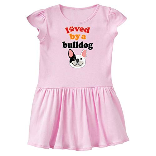 inktastic French Bulldog Gift Infant Dress 6 Months Pink