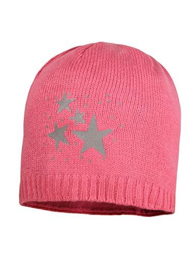 maximo Baby-Mädchen mit Reflekt Sternen Mütze, Rot (Fandango Pink 60), (Herstellergröße: 49/51)