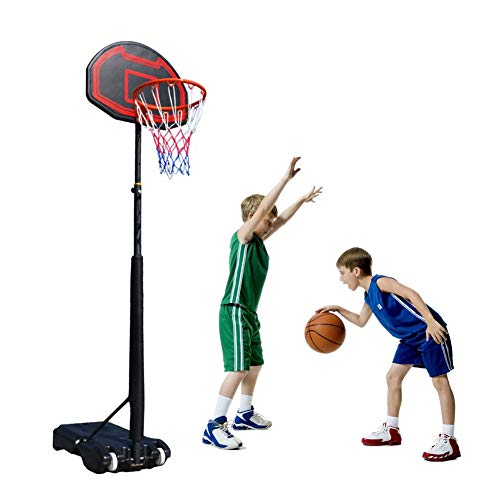 Kamiliya Sports Garden Basketball Hoop Stand, Adjustable Basketball Hoop Outdoor Portable,Back Board Stand and Hoop Set for Children,Children Toy Birthday Gift