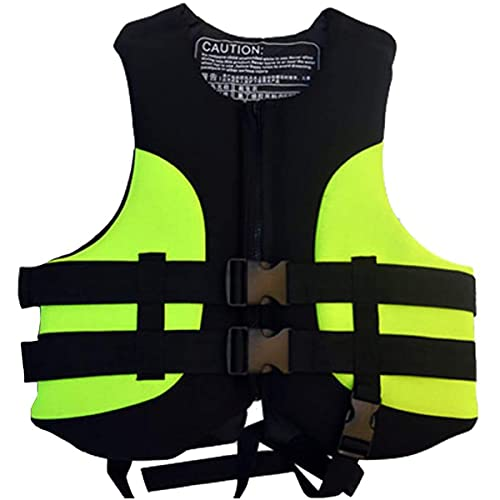GXLO Chaleco a la Deriva, Traje de flotabilidad, Chaleco Salvavidas de Espuma Espesa, Protección contra inundaciones Chaleco Salvavidas Chaleco Salvavidas, XL Yellow,