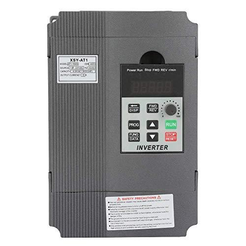 220V 1,5 KW Universal Inverter Frequenzumrichter,Wechselstrom 220V Variable Frequenzantrieb VFD Wechselrichter,einphasig bis 3-phasiger PWM-Steuerung VFD Inverter Vektorregelung Drehzahlregler