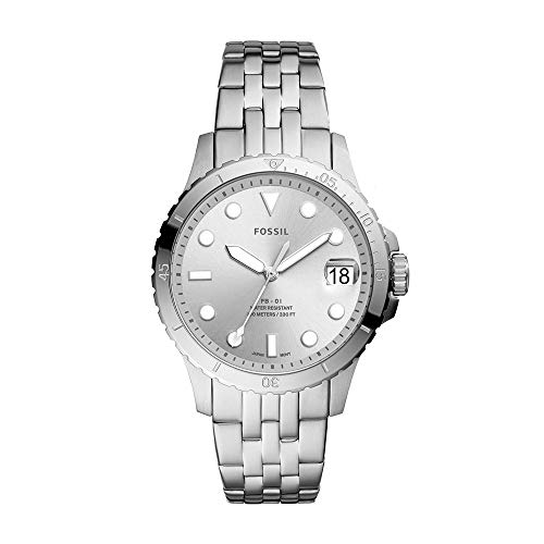 Fossil Women's FB-01 Quartz Stainless Three-Hand Watch, Color: Silver (Model: ES4744)