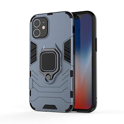 Jaligel - Carcasa para iPhone 12 Mini con soporte de anillo de 360 grados, resistente a los golpes, resistente a los arañazos, para iPhone 12 Mini de 5,4 pulgadas, color azul