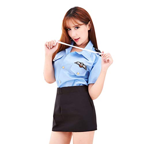 STOBOK Costume Uniforme Cosplay Sexy poliziotta Donna Signore Gioco di Ruolo