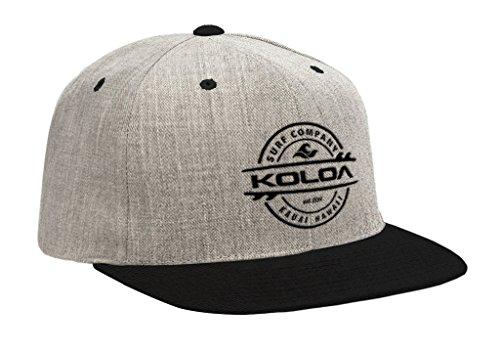 Koloa Surf(tm) Thruster Logo Solid Snap-Back Hat HeatherGreyBlack/b