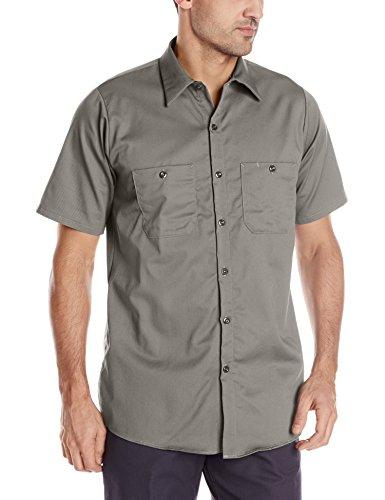 Red Kap mens Short Sleeve Wrinkle-Resistant Cotton WorkShirt Graphite Grey Medium