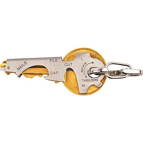 Pixnor Porte-clés Outils de Outil clé Camping lime à ongles Thread Cutter pinces tournevis poche outil de survie