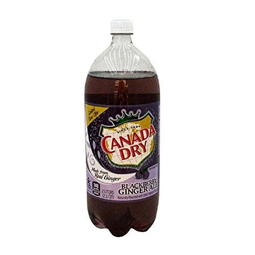 Canada Dry Blackberry Ginger Ale Soda, 2 Liter (6 Pack)