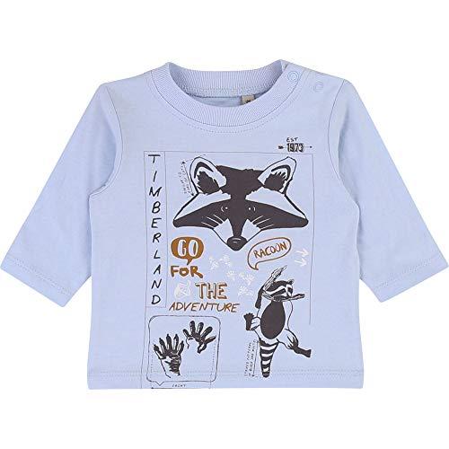 Timberland T-Shirt en Coton sérigraphié Bebe Couche Azur 1MOIS