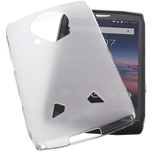 foto-kontor Hülle für CrossCall Trekker X4 Tasche Gummi TPU Schutz Handytasche transparent