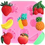 ANGYANG 3D Fruit Strawberry Silicone Mold Banana Apple Fondant Chocolate Moulds Cake Decorating Tools Candy Polymer Clay Moulds