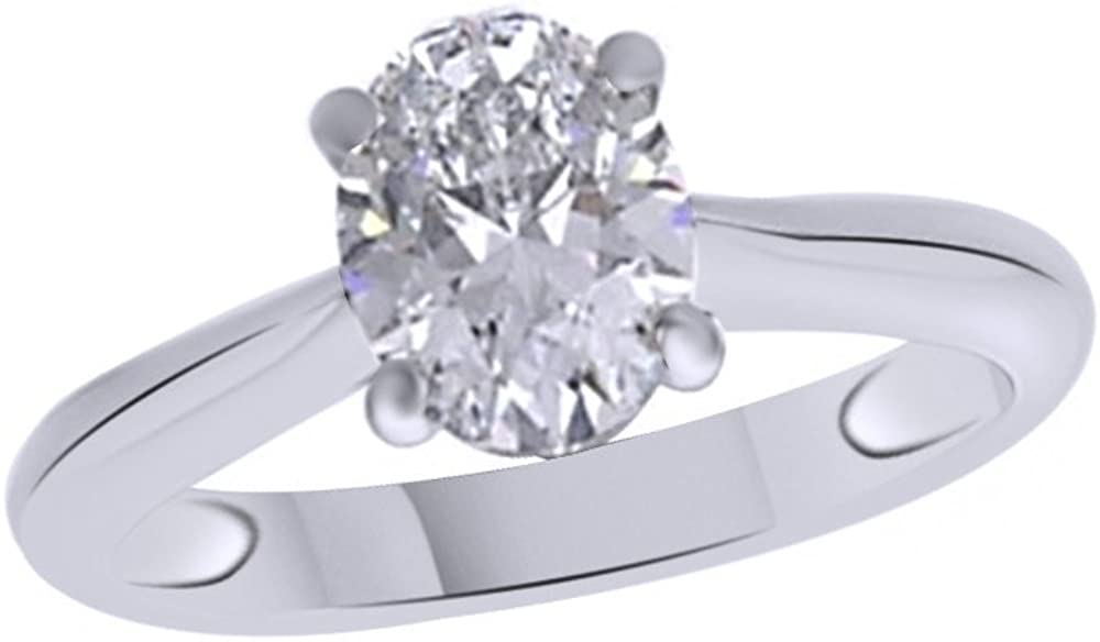 Jewel Zone US Oval Shaped Solit Anniversary Zirconia Selling rankings White Cubic Product