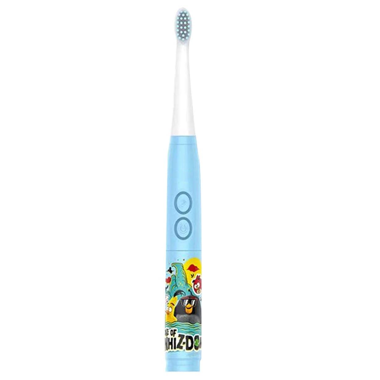 内陸研究ラフトシンプルな子供の音楽電動歯ブラシ男の子と女の子の自動歯ブラシ3-6-12歳の柔らかい髪の赤ちゃんの歯ブラシの家 (色 : A)