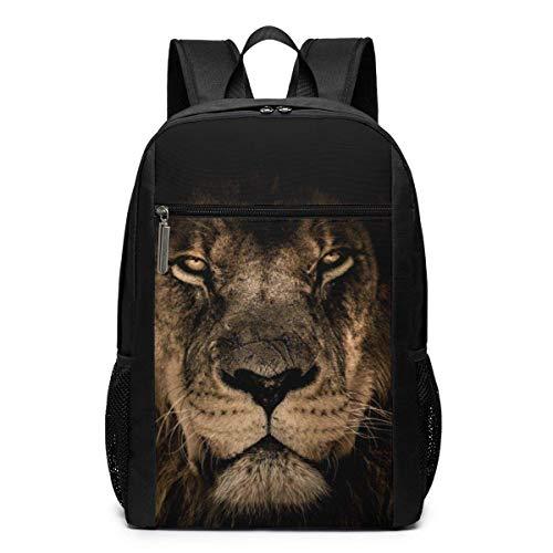 IUBBKI Mochila unisex clásica ligera de poliéster africano León rey melena ojos cerrados mochila escolar mochilas mochilas escolares portátil 17 pulgadas